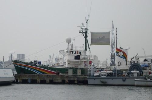 dit is de boot Sirius van Greenpeace